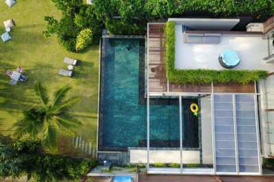 A 5 bedroom beach front villa for sale