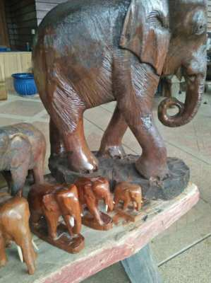collection of wooden elephant 15 pieces