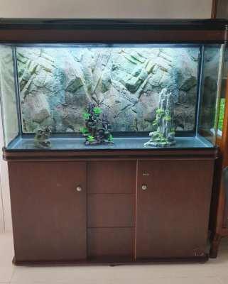 300L Aquarium with Cabinet / Stand