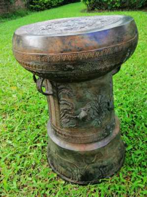 Beautiful Asian Bronze Rain Drum
