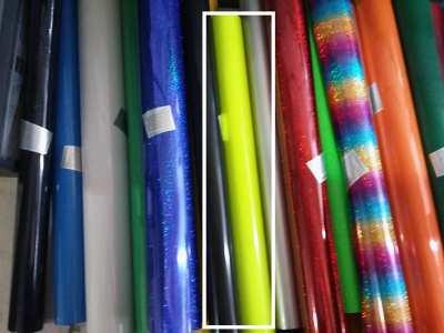Poly Flex สีเขียวสท้อนแสง กว้าง 50ซม ยาว 1 เมตร