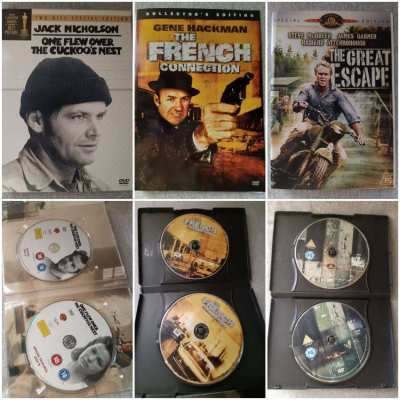 2 Disc Special Ed DVDs - Cuckoo's Nest/French Connection/Great Escape