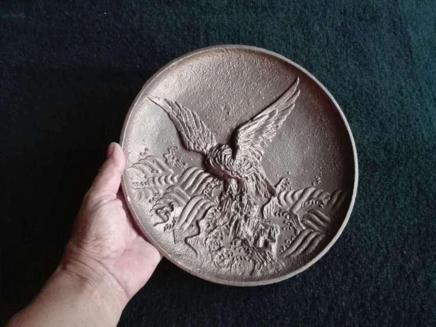 Vintage Brass Eagle plate