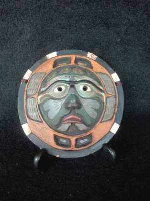 Vintage Ceramic Clay Wall Mask