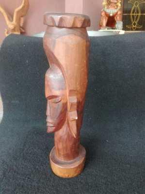 Vintage Kenya Carved Head