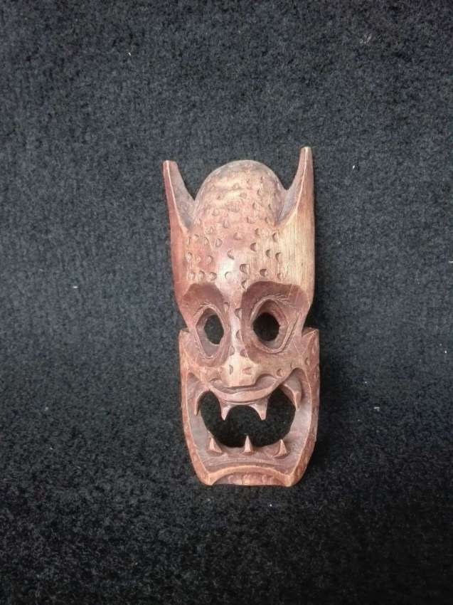 Vintage Wooden Scary Mask