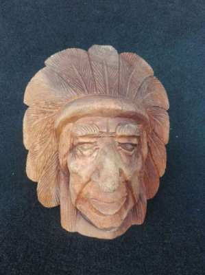 Vintage Indiana Wood Mask