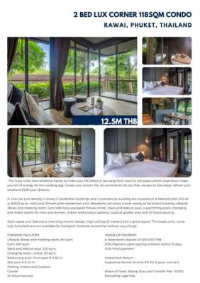 Two bedroom corner condo for sale