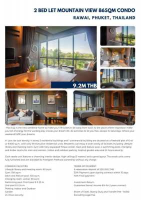 Two bed condo for sale