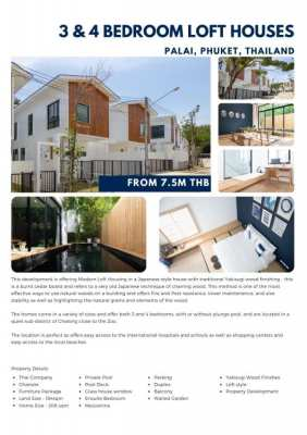 Three or Four bedroom house for sale in Chalong