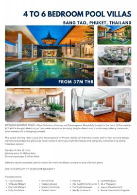 Four and Five bedroom villas for sale in Cherngtalay