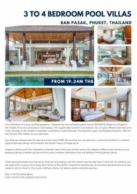 Three bed villas for sale