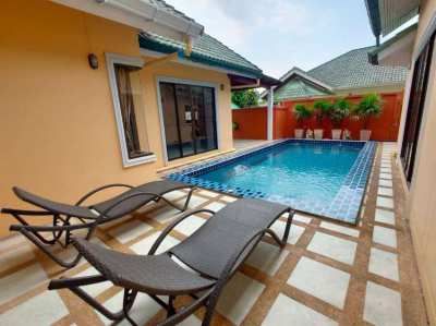 One story house for sale with private swimming pool at East Pattaya.