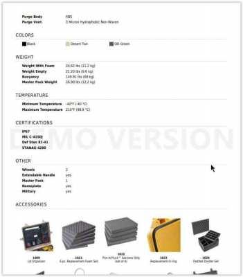 Pelican equipment- gear-travel ABS waterproof case #1620