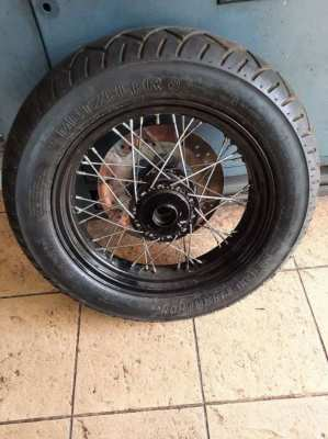 Harley wheel and tire