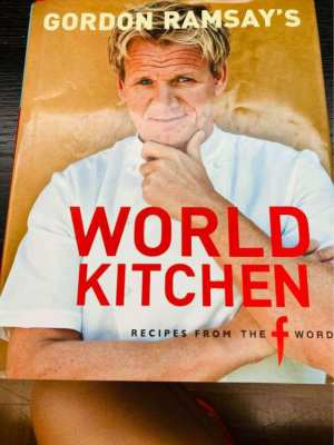 REDUCED PRICE /// Cooking book signed by Gordon Ramsay - World Kitchen