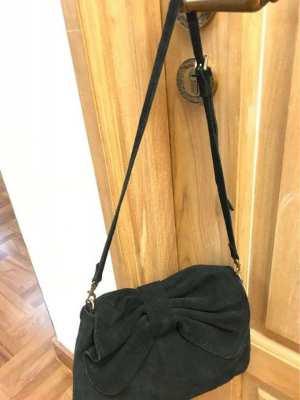 MANGO // Cross hand bag velvet black / REDUCED PRICE
