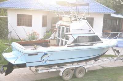 ขาย เรือยอร์ชตกปลา มืออาชีพ Bertram 24 ฟุต ดีเซลแรงๆ โหดๆ ไม่ต้องกลัวคลื่น