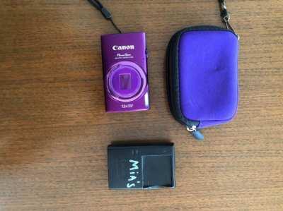 Canon PowerShot ELPH 340 HS Camera (purple)