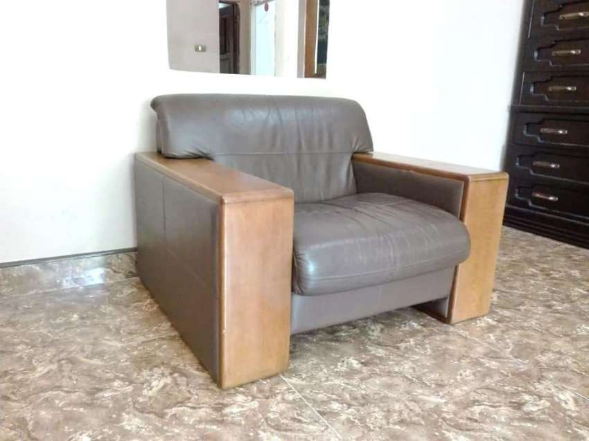 Leather arm-chair with free delivery
