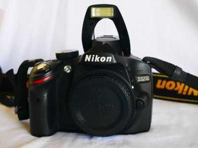Nikon D3200 24MP DSLR camera Black Body
