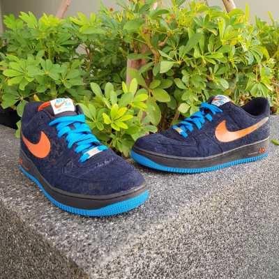 Nike Air Force 1 'Houndstooth' Low Black/Team Orange