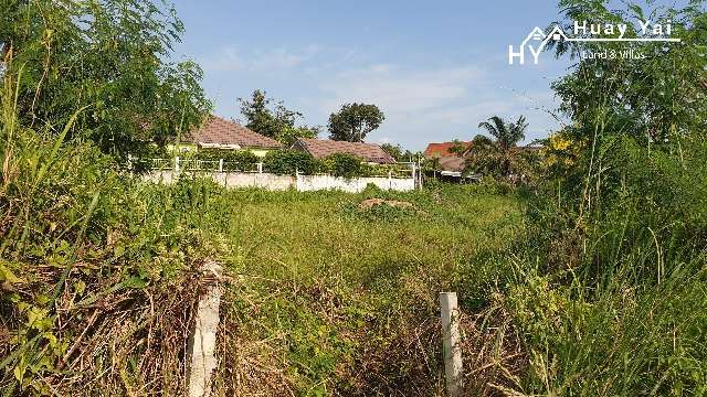 #1282  Huay Yai Corner plot in a quiet location