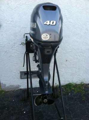 Used 2014 Yamaha 40HP 4-Stroke Outboard Motor