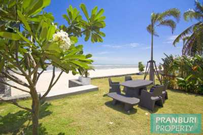 Reduced price 2 bed absolute beachfront modern house with pool