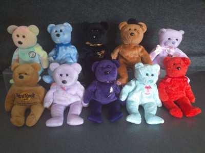 Beanie Babies 10 clean little bears