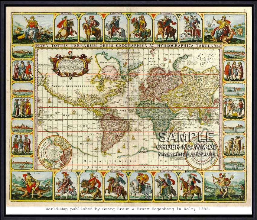 Vintage historical maps from 1400 to 1899