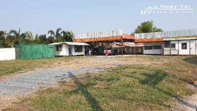 #1262    1 rai on Huay Yai Main Road in village centre location