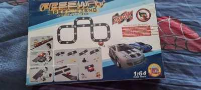 Car racing game and train set