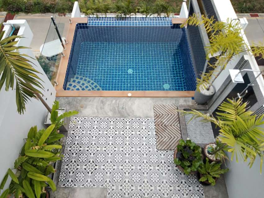Luxury designer pool villa with seaview and island view