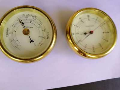 Clock and Barometer  ( inscribed Sunseeker ) original