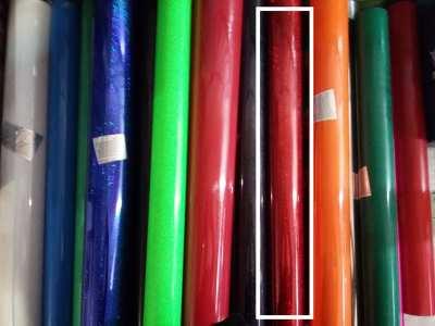 Poly Flex สีแดงประกาย กว้าง 50ซม ยาว 1 เมตร