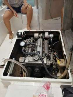 YANMAR INBOARD DIESEL CABIN BOAT 20 FT REGISTERED 45 HP.