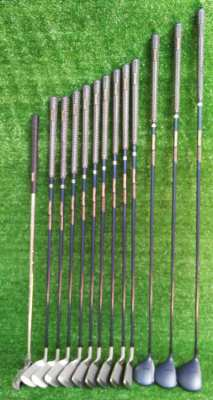 Complete full set of Spalding golf clubs in bag, FREE shipping.