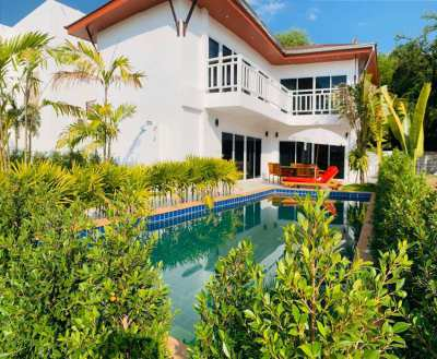 3 bedroom pool villa only 100 meter from Mae Ramphueng beach in Rayong