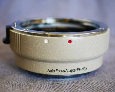 Auto Focus Adapter EF-NEX  for Sony A7/A7R/A7S II, III, IV cameras