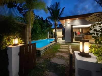 2 bedroom pool villa on the beach in Rayong. Price 3,995,000 THB