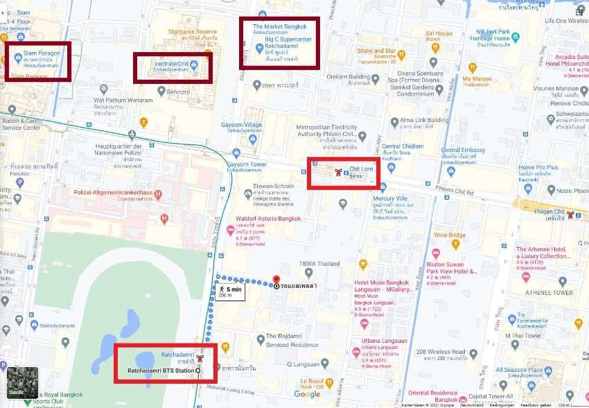 Luxury Condo at City Center Walk 7 min BTS ChitLom & 4 to Ratchadamri