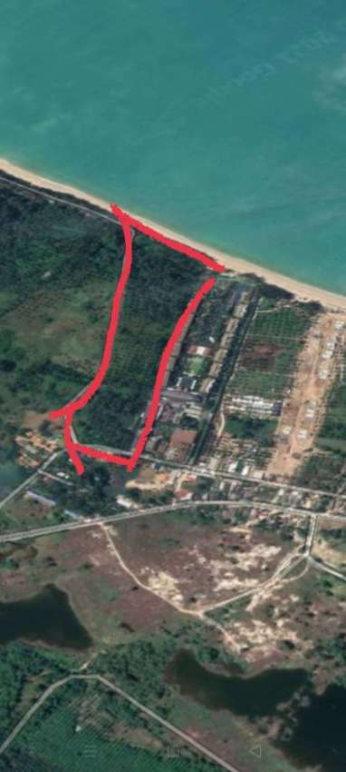 Beachfront Land for sale at very attractive price