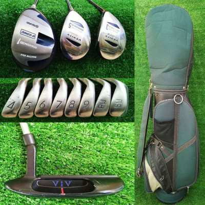 Complete full set of Maruman golf clubs in bag, FREE shipping