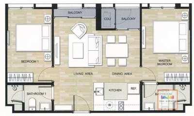 For sale Hasu Haus ,64 sq.m 2 beds ฮาสุ เฮ้าส์