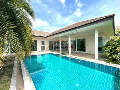 Bright Modern smart designed L-Shaped Pool Villa in great location