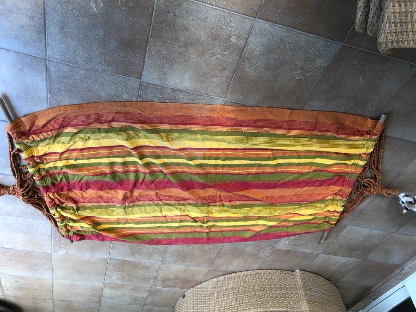 Striped Canvas Hammock