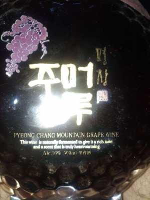 PYEONG CHANG MOUNTAIN GRAPE WINE (2010)