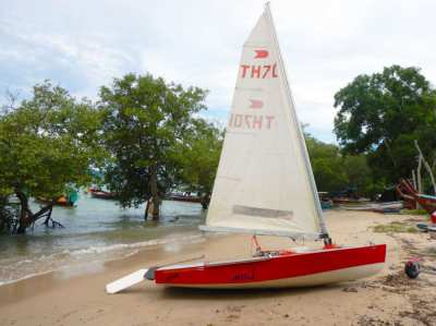 Sailing boat for sale . (Finn class) As fast as a wind !
