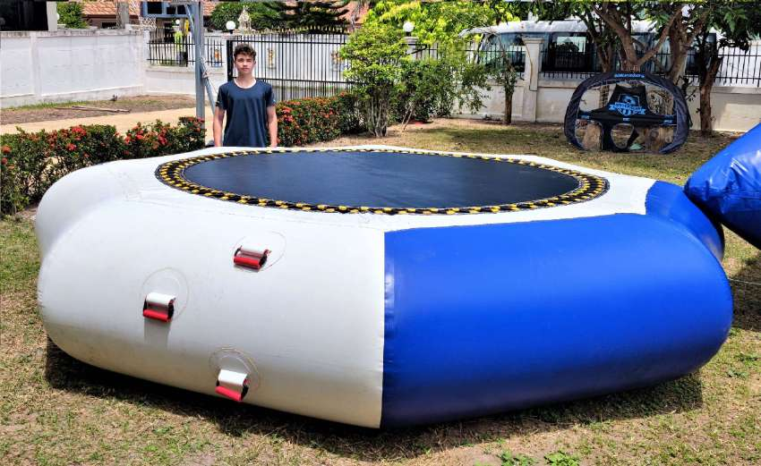 Big Inflatable jumping trampoline with blop.